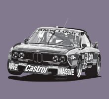 BMW E9 CSL BATMOBILE - Luigi/Castrol Group 2 (Black & White Lines) by Sharknose