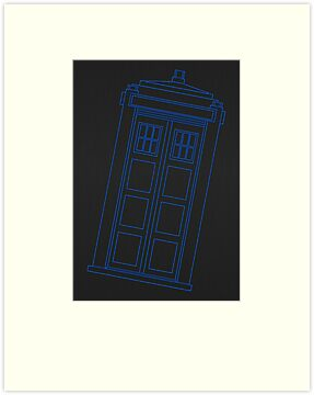 Police box outline by Emma Harckham