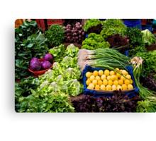 Fresh Organic Vegetables At A Street Market  Canvas Print