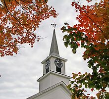 Franklin Steeple by Deborah  Benoit