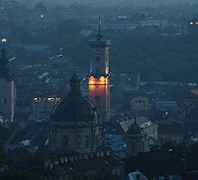 Dusk over Lviv by Oleksiy Rybakov