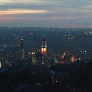 Sunset over Lviv - wide pano by Oleksiy Rybakov