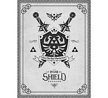 Legend of Zelda Hylian Shield Geek Line Artly  Photographic Print