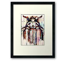 Shinji Evangelion Anime Tra Digital Painting  Framed Print