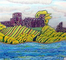 370 - BARNARD CASTLE FANTASY - DAVE EDWARDS - COLOURED PENCILS - 2012 by BLYTHART