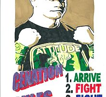 John Cena Fight Fight Fight Drawing by chrisjh2210
