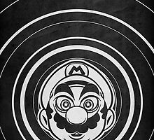 Super Mario Tripping Bros. Geek Line Artly  by barrettbiggers