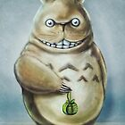 Totoro Communis Domestica Tra Digital Painting by barrettbiggers
