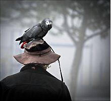 I always wear a bird on my head Photographic Print