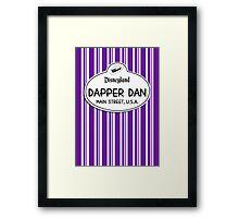 Dapper Dans Nametag - Purple Framed Print