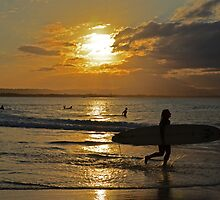 Sunset surfers by leanne0333