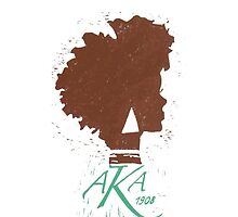 Alpha Kappa Alpha iPhone Case by jlynnart