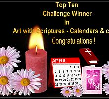 Top Ten Challenge banner for Art with Scriptures  by aldona