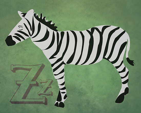 Sleepy Zzzebra by Beth Thompson