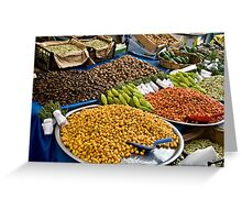 Different Types Of Hawthorns At A Street Market  Greeting Card