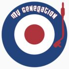 My Generation Vinyl Record Mod Target T-Shirt by retrorebirth