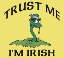 "Funny Irish ""Trust Me I'm Irish"" Kids Clothes"