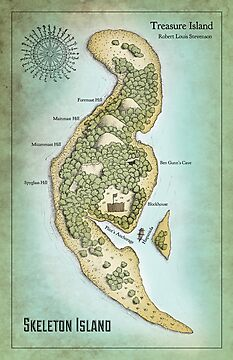 Skeleton Island from Treasure Island by Craig Wetzel