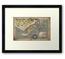 Poe - The Gold Bug - Map Framed Print