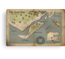 Poe - The Gold Bug - Map Canvas Print