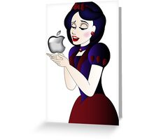 Snow White and Apple Greeting Card