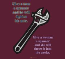 Give A Man A Spanner t-shirt design by muz2142