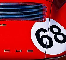 Red 1969 Porsche 911E by Stuart Row