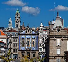 Portugal. Porto. Church Dos Congregados & Sao Bento Train Station. by vadim19