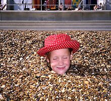 Girl on a beach - Felixstowe by Martin Cameron
