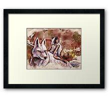 Mononoke and the Wolf Digital Painting Framed Print