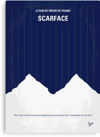 No158 My SCARFACE minimal movie poster by Chungkong