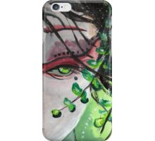 Geisha in Leaves: The Sentimental Concubine iPhone Case/Skin
