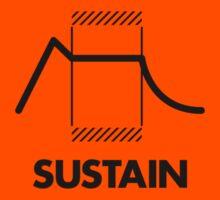 ADSR - Sustain (Black) Kids Clothes