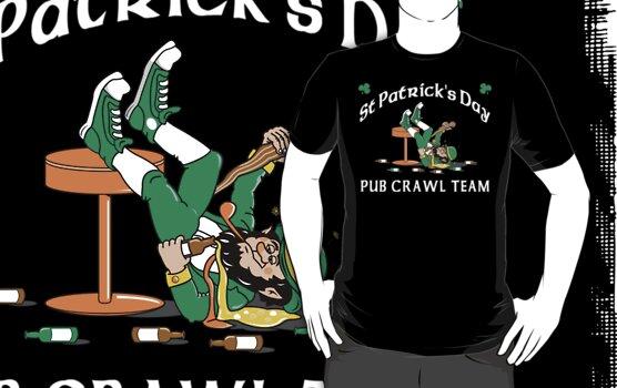 Irish Pub Crawl by HolidayT-Shirts
