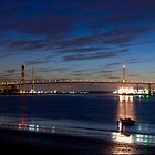 Dartford Bridge at night by Simon Kirwin