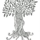 Swirly Whirly Tree of life by MegartDrawings