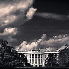 White House with clouds by eddieguy