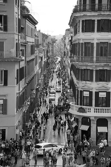 From the Spanish Steps Rome. by John Holding