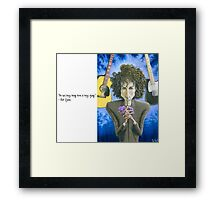 Dusky Resolution - Quote Framed Print