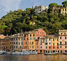 Portofino, Italy on a Bright, Sunny Day by Gerda Grice