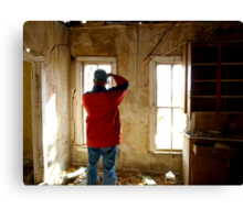 Finding the Character of an Old House Canvas Print