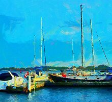 Boats at Harbourfront Toronto by DiNovici