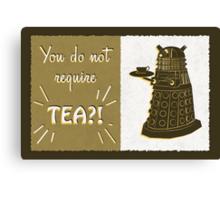 Dalek Tea Time Canvas Print