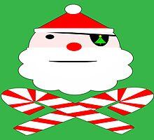 hohoho jolly roger santa card by dedmanshootn