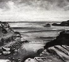 """Diamond Bay"" -  Flinders, Victoria by Belinda ""BillyLee"" NYE (Printmaker)"