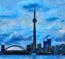 CN Tower Toronto by DiNovici