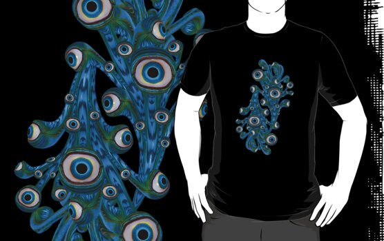 Gruesome Eyeballs .. tee shirt by LoneAngel