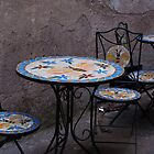 Cafe wrought iron tables in Rome. by fg-ottico