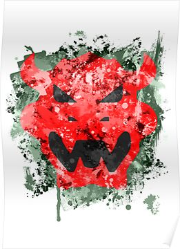 Bowser Emblem Splatter by Colossal