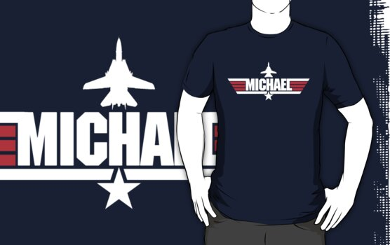 Custom Top Gun Style - Michael by CallsignShirts